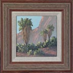 Kathi Hilton Palms Miniature with Frame Thumbnail