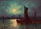 Carl Henrik Jonnevold Moonrise on the Thames in London Thumbnail