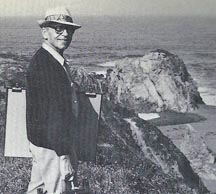 Photo of El Meyer on Painting excursion
