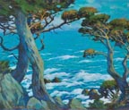 Mary DeNeale Morgan Pt Lobos Cypress and Deep Blue Sea Thumb
