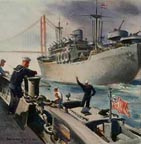 Oceanside Museum of Art Sailor at SF Dock Thumbnail