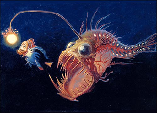 adaptations of the anglerfish Get information about anglerfish from the dk find out website for kids improve your knowledge on anglerfish with fun facts and learn more with dk find out.