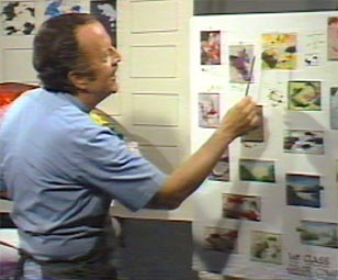 Hal Reed at work teaching art