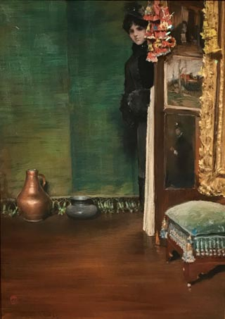 May I Come In?, ca 1883 William Merritt Chase, American, 1849-1916