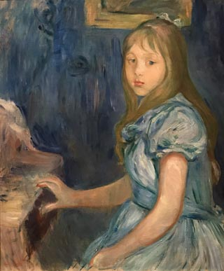 Lucie Leon at the Piano, 1892 Berth Morisot, French, 1841-1895