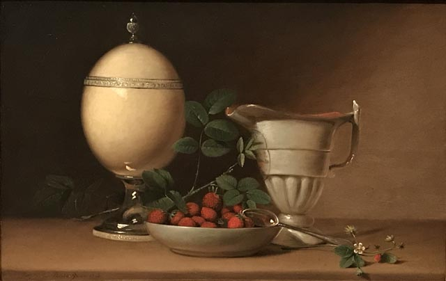Still Life with Strawberries and Ostrich Egg Cup, 1814 Raphaelle Pealle, American, 1774-1825