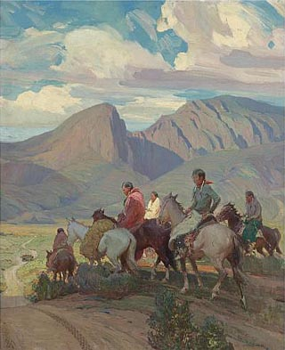 Oscar Barringhaus Indians on Horseback