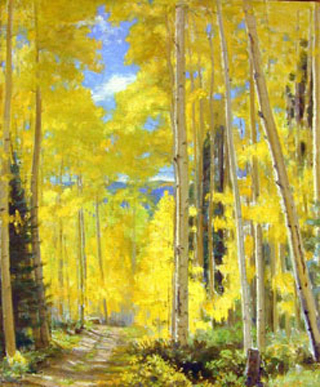 Bert Phillips Aspens in Fall