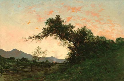Jules Tavernier Marin Sunset Back of Petaluma