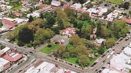 Areal Photo of Sonoma Plaza