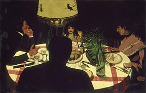 Vollotton_Felix_Dinner_by_Lamplight