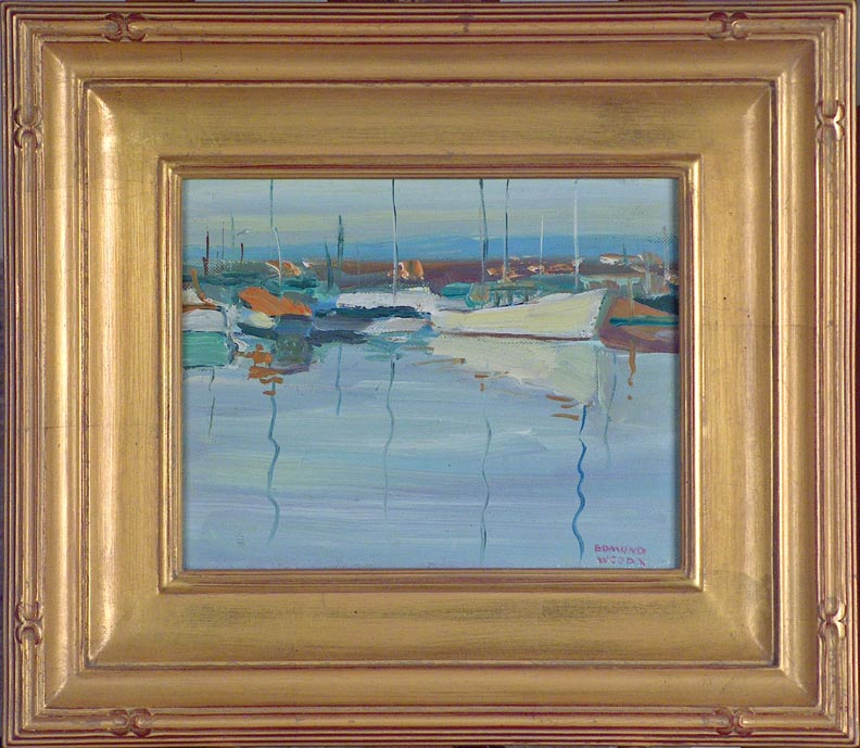 Edmond Woods Morning Boats with Frame