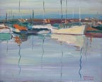 Edmond Woods Morning Boats Thumbnail